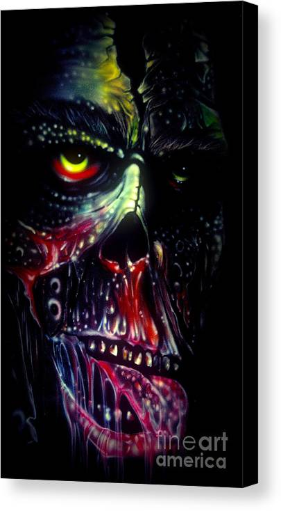 Frankie Caron Canvas Print featuring the painting Colored Decay by Frankie Caron