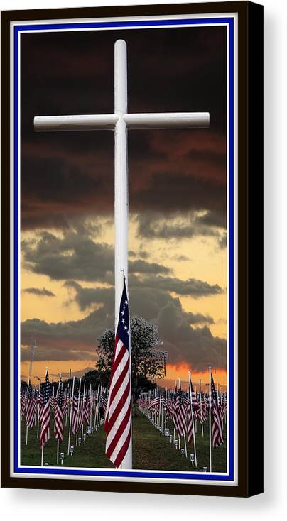 God Canvas Print featuring the photograph In God We Trust by Ella Kaye Dickey