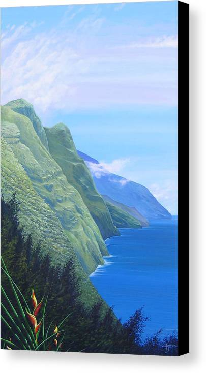 Landscape Canvas Print featuring the painting Sunshine In The Shade by Hunter Jay