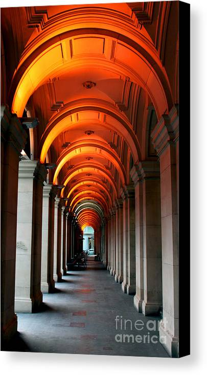 Arch Canvas Print featuring the photograph Glowing Iteration by Andrew Paranavitana