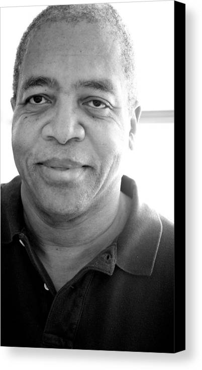 African American Canvas Print featuring the photograph African American Male. by Oscar Williams