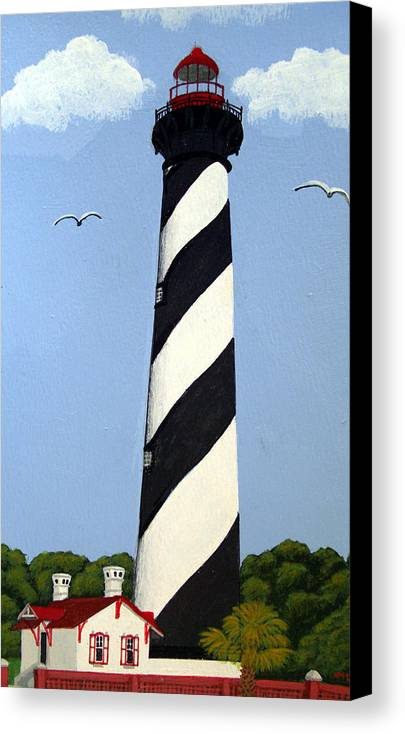 Lighthouse Paintings Canvas Print featuring the painting St Augustine Lighthouse by Frederic Kohli