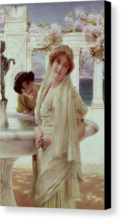 Difference Canvas Print featuring the painting A Difference Of Opinion by Sir Lawrence Alma-Tadema