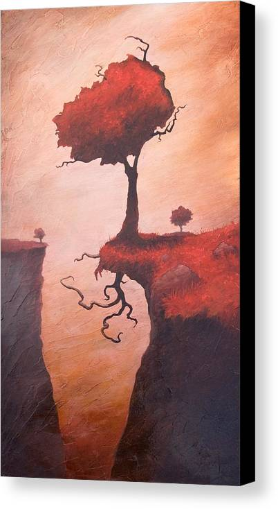 Woman Canvas Print featuring the painting A Totem Of Will by Ethan Harris