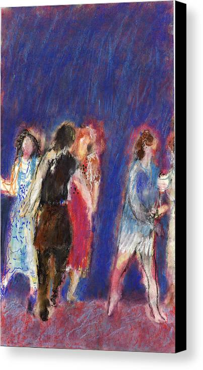 Dancers Canvas Print featuring the painting Dancers by Bill Collins