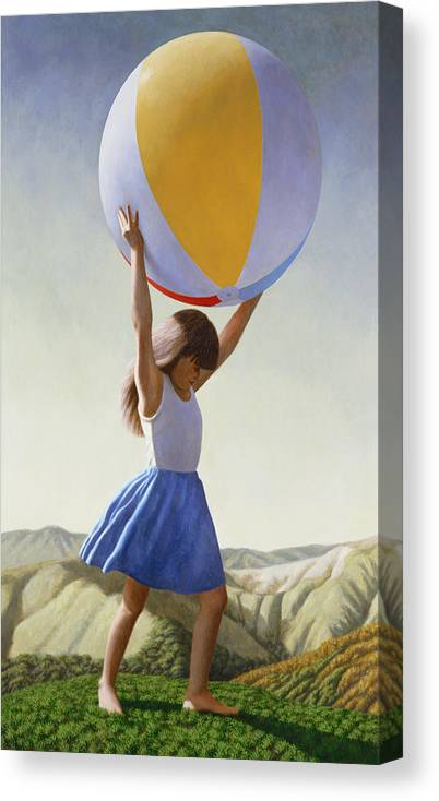 Atlas Canvas Print featuring the painting Atlas by David Palmer