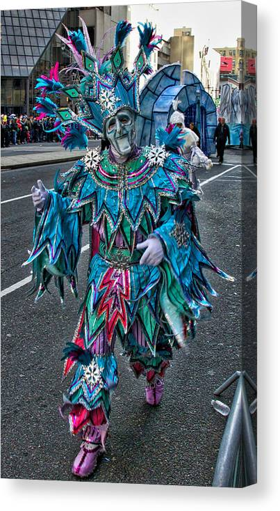 Mummer Canvas Print featuring the photograph Snowflake Mummer by Alice Gipson