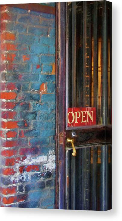 Store Canvas Print featuring the photograph Come On In, We're Open by JAMART Photography