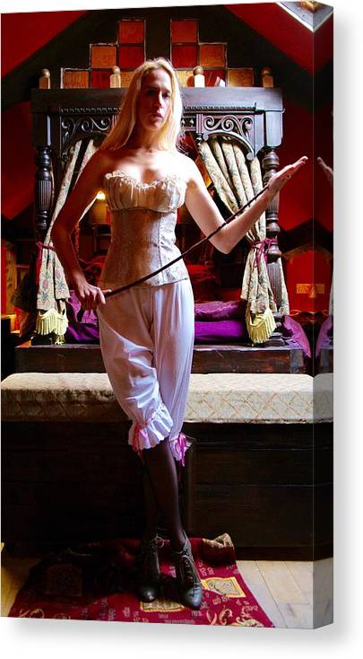 Canvas Print featuring the photograph A Victorian Domme by Asa Jones