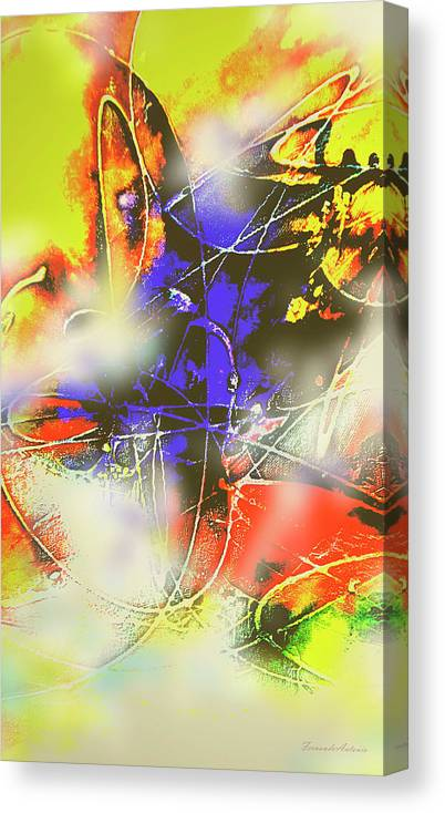 Abstrato Canvas Print featuring the digital art Abstrato Zzzm by Fernando Antonio