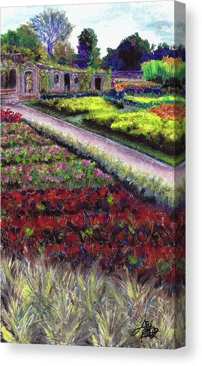 Garden Canvas Print featuring the pastel Biltmore Walled Gardens by April Zaidi