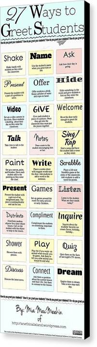 Canvas Print featuring the photograph 27 Ways To Greet Students by Shawn MacMeekin