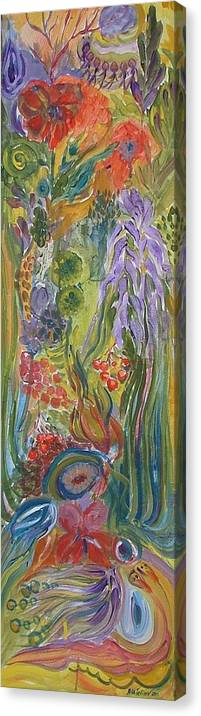 Acrylic Canvas Print featuring the painting Flower Garden by Rita Fetisov