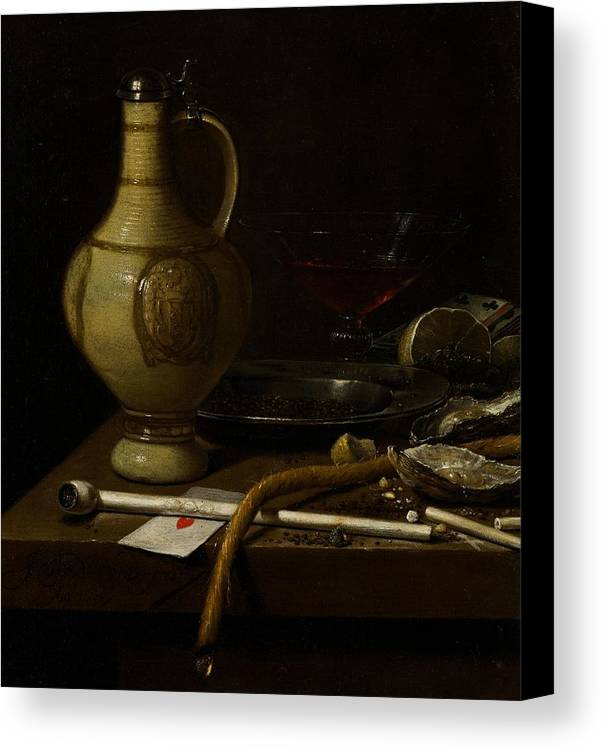 Still Canvas Print featuring the painting Still Life by Jan Jansz van de Velde
