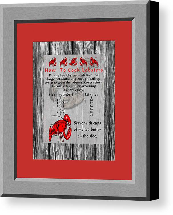 Cooking Lobster Canvas Print featuring the photograph Cooking Lobster by Daryl Macintyre