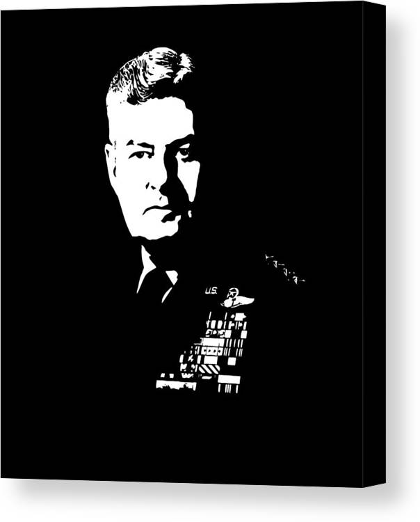 Curtis Lemay Canvas Print featuring the digital art General Curtis Lemay by War Is Hell Store