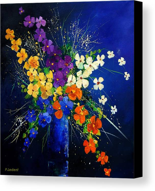 Poppies Canvas Print featuring the print Bunch 0408 by Pol Ledent