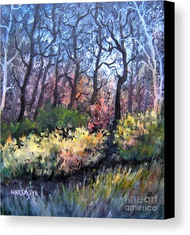 Landscape Canvas Print featuring the painting Harmony 2 by Marta Styk