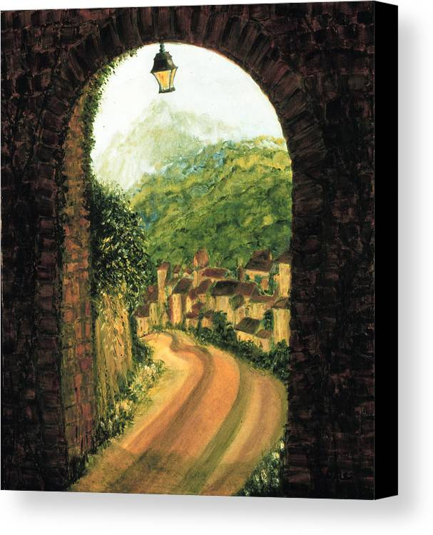 Long Road Home  Canvas Print featuring the painting Long Road Home by Ione Citrin