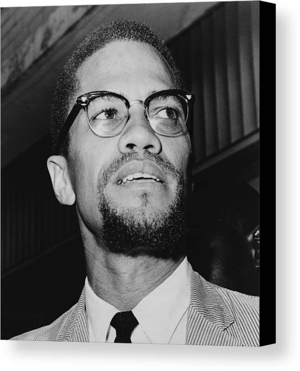 History Canvas Print featuring the photograph Malcolm X 1925-1965 In 1964, The Year by Everett