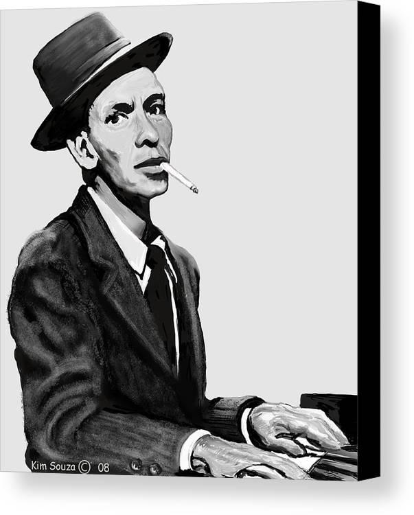 Frank Sinatra Canvas Print featuring the digital art Ol Blue Eyes by Kim Souza