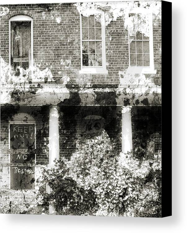 Haunting Canvas Print featuring the photograph Solitary by Richard Rizzo