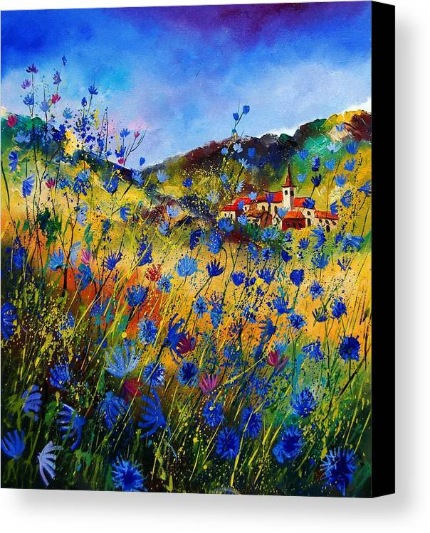 Flowers Canvas Print featuring the painting Summer Glory by Pol Ledent