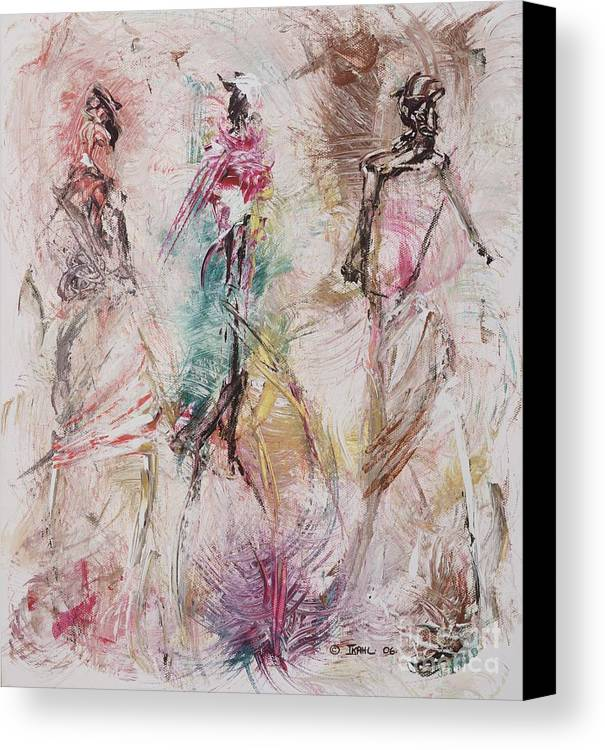 Abstract Canvas Print featuring the painting Untitled by Ikahl Beckford