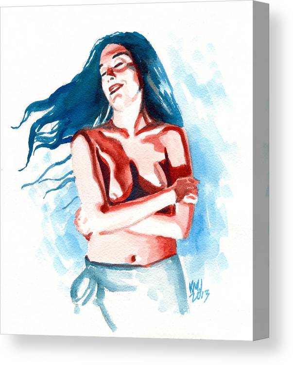 Women Canvas Print featuring the painting Lisa by Ken Meyer