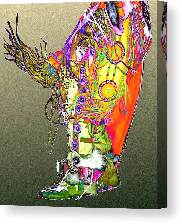 Moccasin Canvas Print featuring the digital art Moccasin 2 by Kae Cheatham