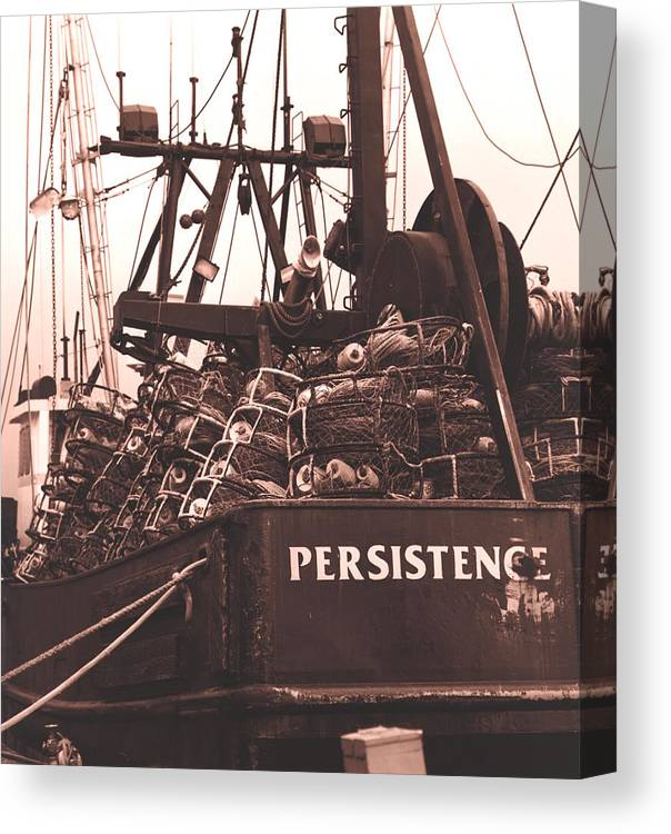 Ships Canvas Print featuring the photograph Persistence by Tammy Hankins