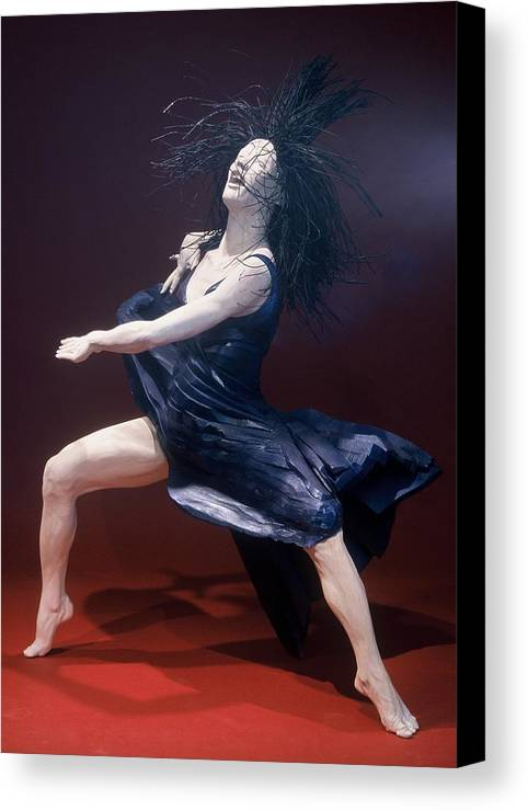 Dance Canvas Print featuring the sculpture Blue Dancer Left View by Gordon Becker