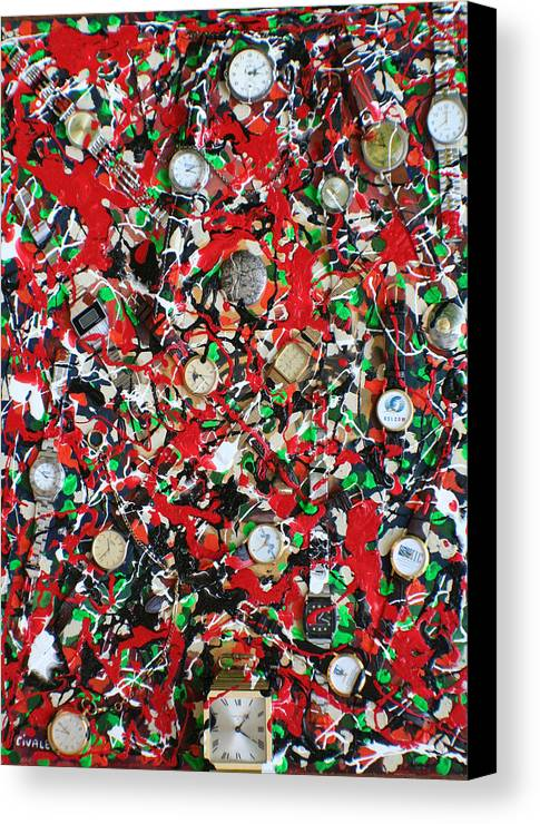 Canvas Print featuring the painting Timepieces by Biagio Civale