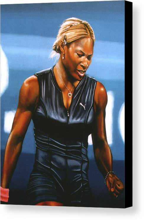 Serena Williams Canvas Print featuring the painting Serena Williams by Paul Meijering