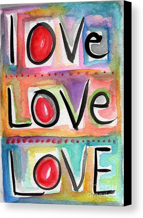 Love Canvas Print featuring the mixed media Love by Linda Woods