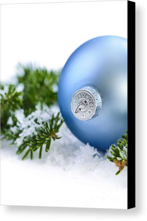 Christmas Canvas Print featuring the photograph Christmas Ornament by Elena Elisseeva