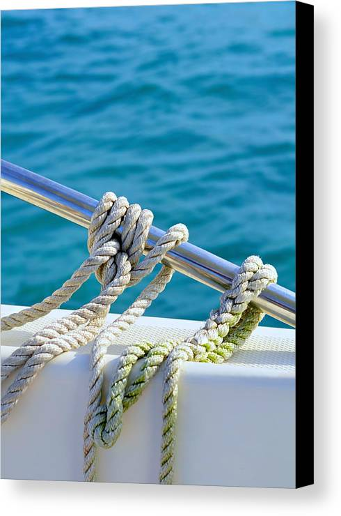 Laura Fasulo Canvas Print featuring the photograph The Ropes by Laura Fasulo