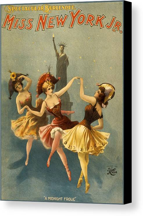 Entertainment Canvas Print featuring the drawing A Midnight Frolic by Aged Pixel