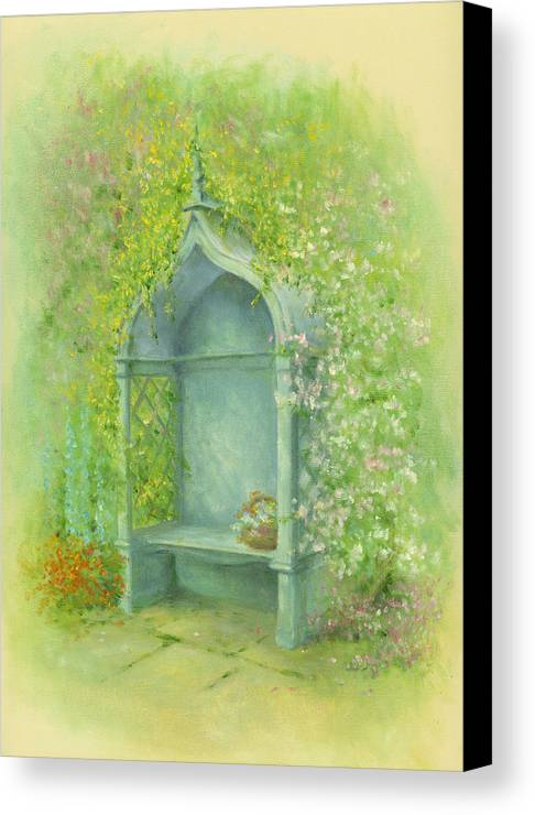 Architecture Canvas Print featuring the photograph A Seat In The Garden by Garry Walton