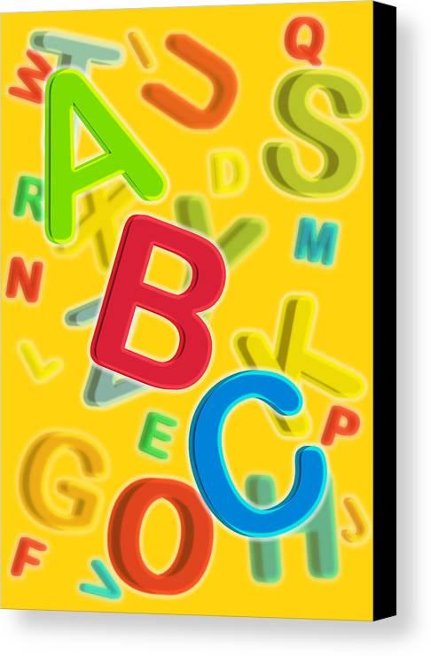 Abc Canvas Print featuring the digital art ABC by Thisis Notme
