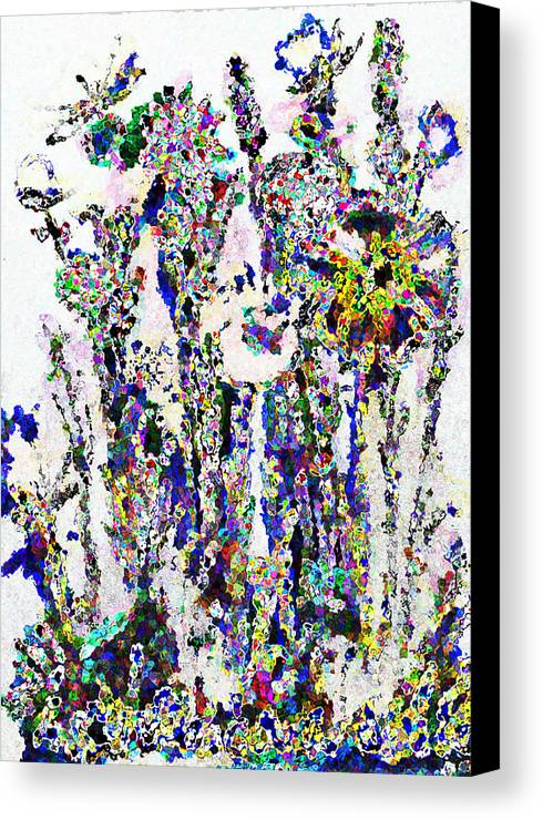 Flowers Canvas Print featuring the photograph Abstract Flowers A by Bruce Iorio