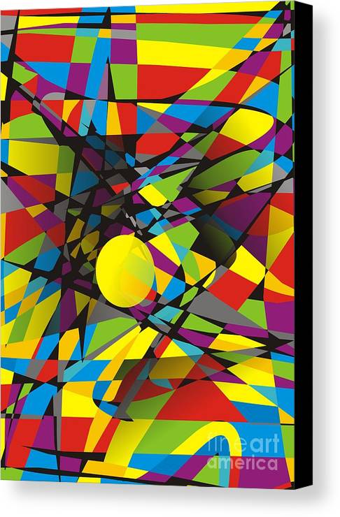 Graphics Canvas Print featuring the digital art Abstraction V 063 Marucii by Marek Lutek