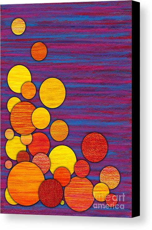 Colored Pencil Canvas Print featuring the painting Accumulation by David K Small