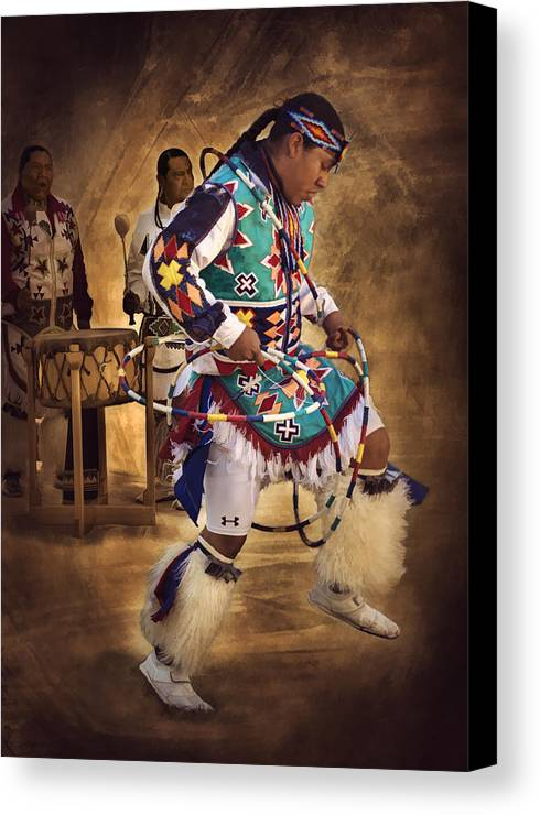 Hoop Dancer Canvas Print featuring the photograph All In The Family by Priscilla Burgers