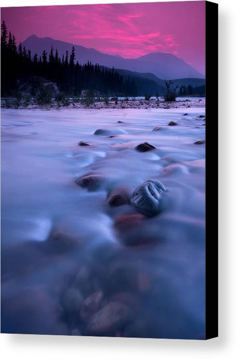 A77 Canvas Print featuring the photograph Athabasca Sunset by Cale Best