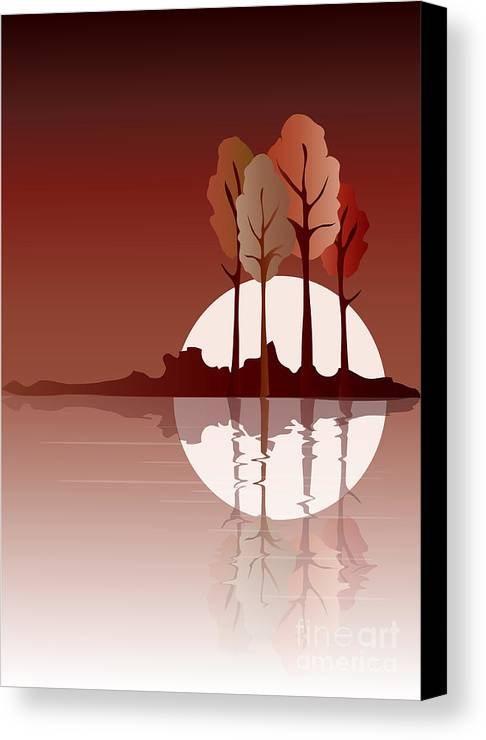 Art Canvas Print featuring the digital art Autumn Reflected by Jane Rix