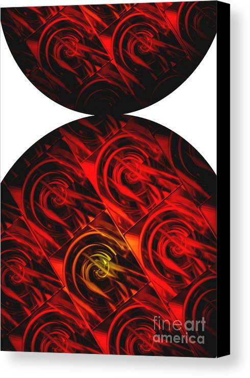 Abstract Canvas Print featuring the digital art Balance by Ann Powell