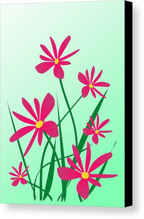 Graphic Canvas Print featuring the digital art Brighten Your Day by Anastasiya Malakhova