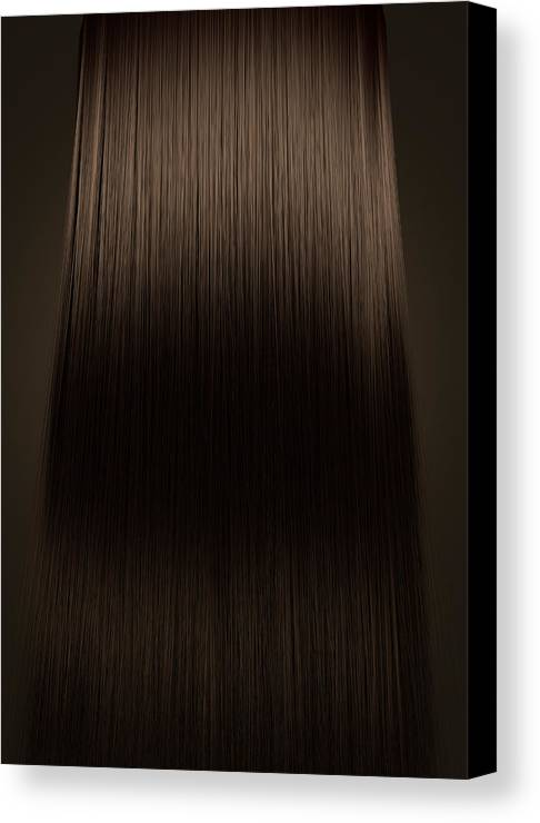 Blonde Canvas Print featuring the digital art Brown Hair Perfect Straight by Allan Swart