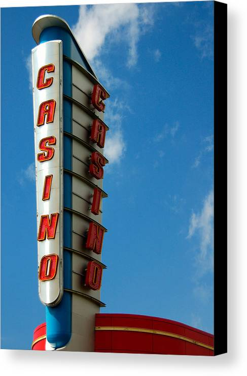 Casino Canvas Print featuring the photograph Casino Sign by Norman Pogson